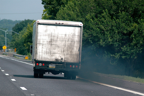 polluting truck