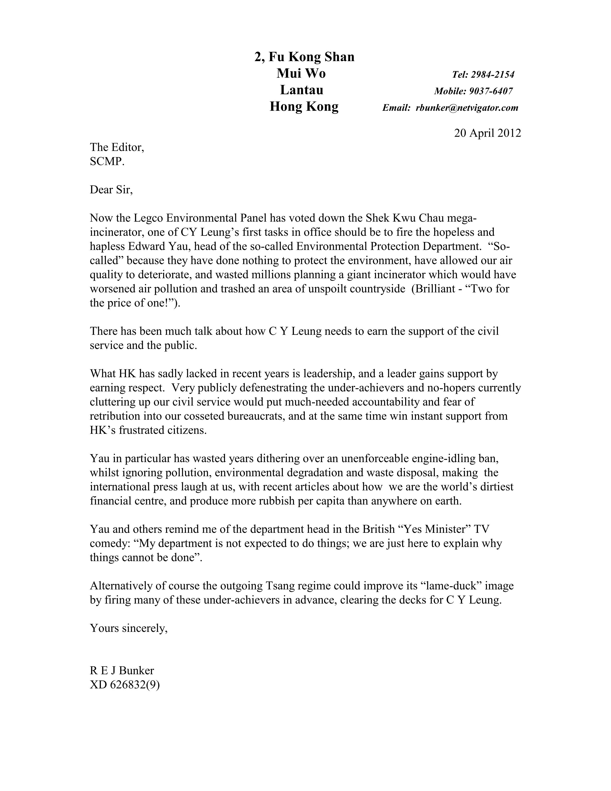 letter to scmp clear the air news blog posted