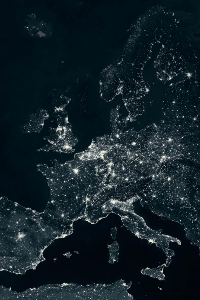 Europe at night from Space. Photograph: SPL/Barcroft Media