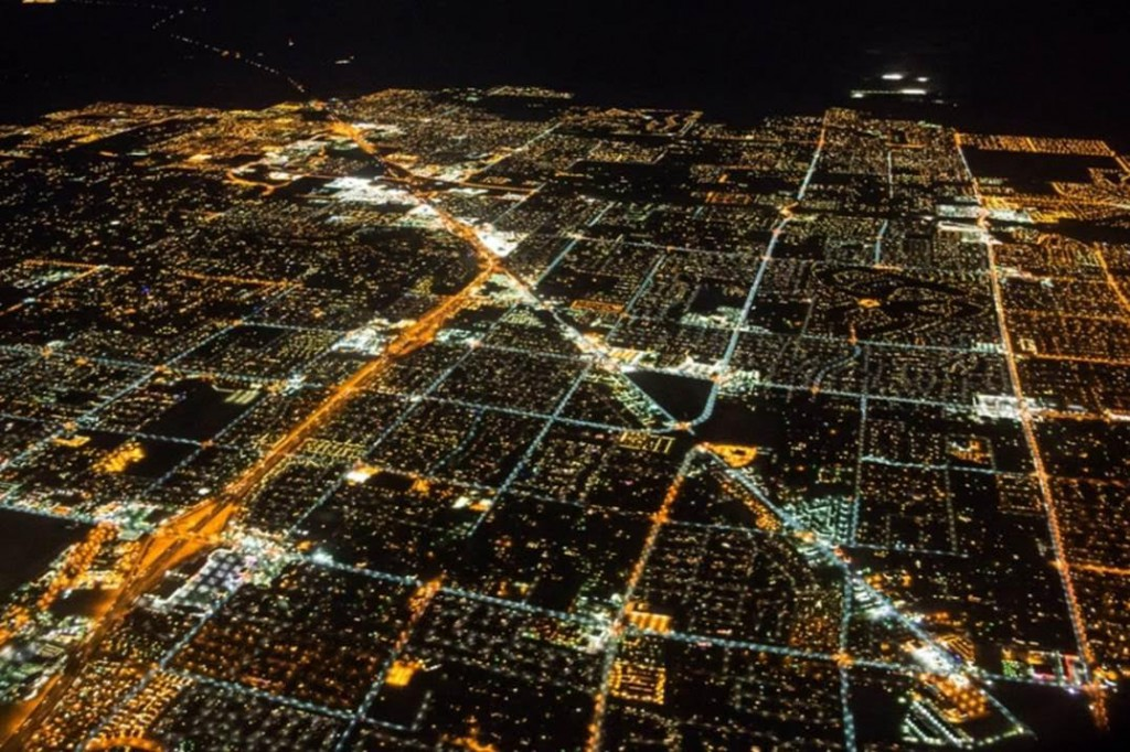 Las Vegas at night. Photograph: Corbis