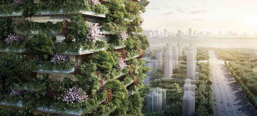 Nanjing Green Towers, promoted by Nanjing Yang Zi State-owned National Investment Group Co., Ltd, will be the first Vertical Forest built in Asia. (photo: Stefano Boeri Architetti)