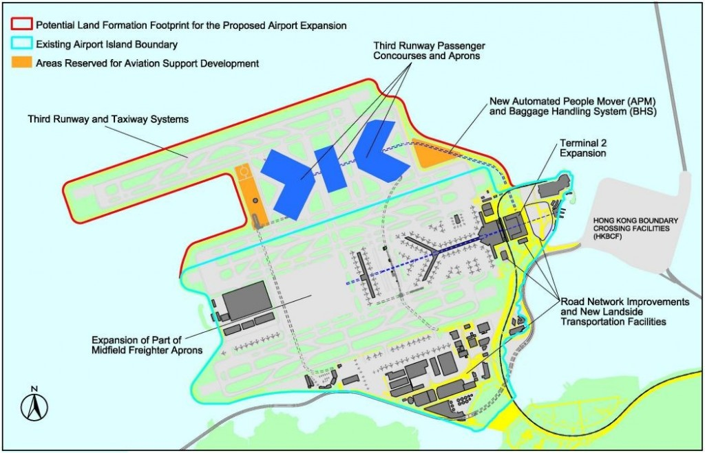 The proposed third runway. Photo: GovHK.